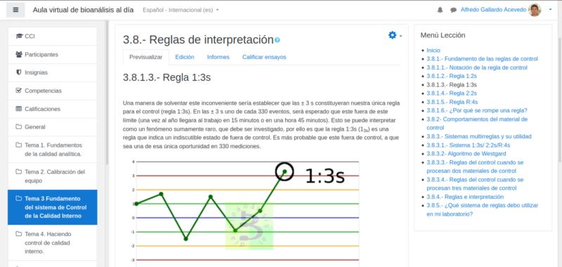 Curso calibración y control interno, regla 1:3s